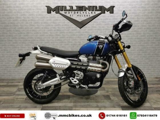2019 (19) TRIUMPH SCRAMBLER 1200 XE WITH ONLY 2443 MILES INC BREMBO OHLINS