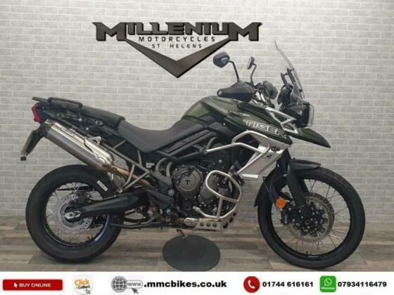 2018 (68) TRIUMPH TIGER 800 XCX FINISHED IN KHAKI GREEN WITH 7503 MILES