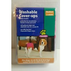 Top Paw washable Cover-Ups medium dog size garment 15-35lbs 15''-23'' waist 2 Pack