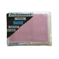 Performance by Springs Vintage Pink Full Double Flat Sheet Twilite No Iron USA