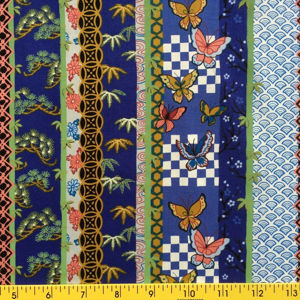 Palace Garden Fabric For Sewing And Quilting Border Stripe