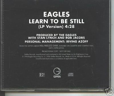 With Eagles, time and maturity, we 'Learn to Be Still'