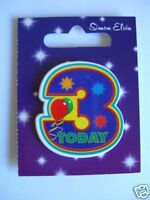 Small Shaped Party Badge - 3 Today (Boy)(AA SE 3rd)