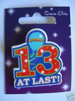 Small Shaped Party Badge - 13 At Last (AA SE 13th)