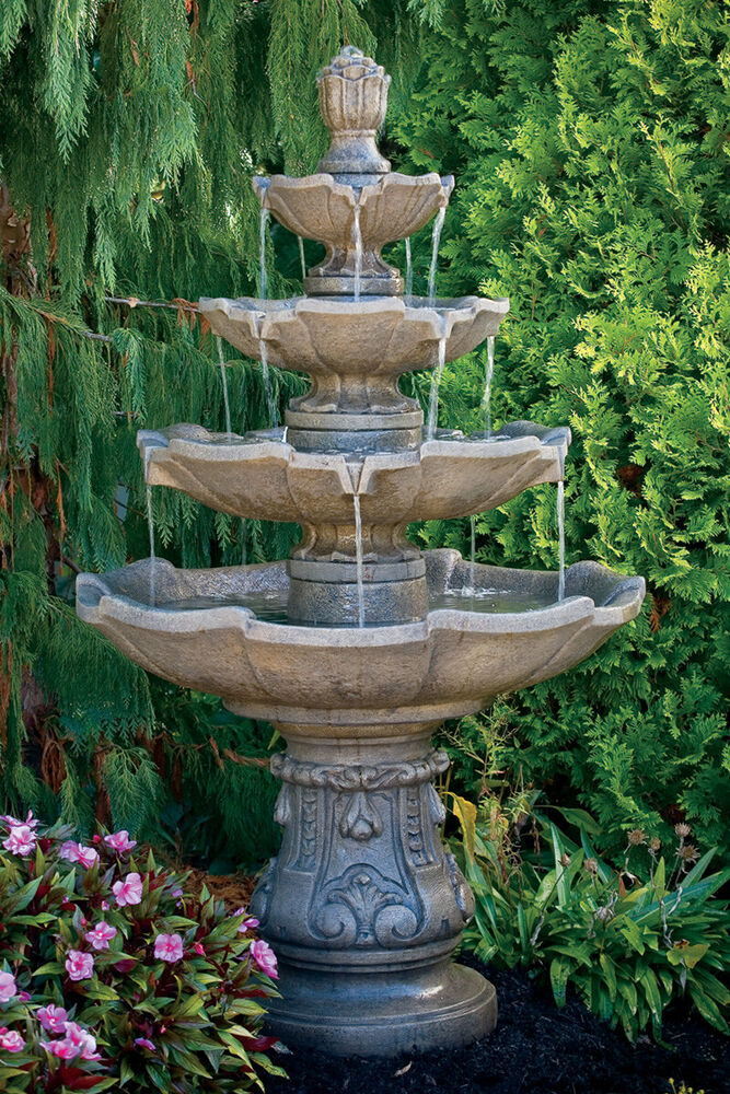 65 Quot Classic Four Tier Fountain Outdoor Cement Ebay