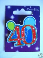 Small Shaped Party Badge - 40 (Birthday)(AA SE 40th)