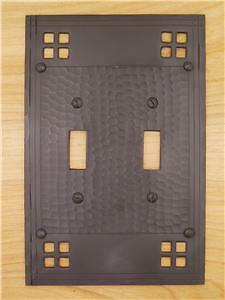 Mission arts crafts 2 toggle light switch cover plate ebay for Arts and crafts outlet covers