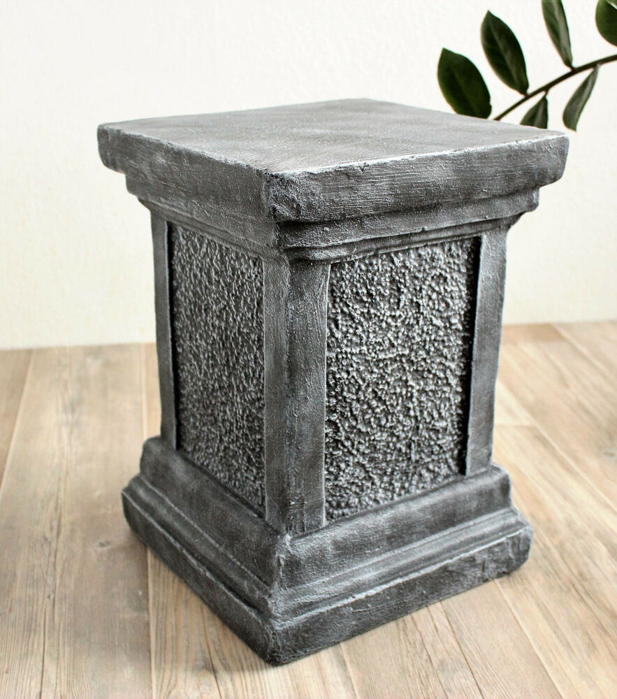 s ule f r figuren sockel f r statuen empore stele stein garten deko frostfest ebay. Black Bedroom Furniture Sets. Home Design Ideas
