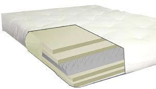 deluxe full cotton foam 6 8 thick futon mattress ebay. Black Bedroom Furniture Sets. Home Design Ideas