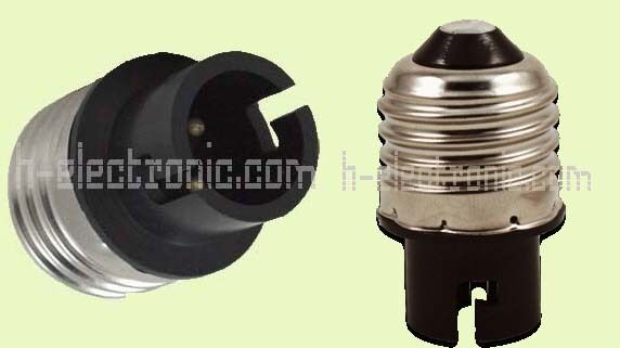 adapter e27 auf ba15d leuchtmittel spot gl hbirne a4 sockel fassung ebay. Black Bedroom Furniture Sets. Home Design Ideas