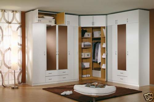 Modern european bedroom closet wardrobe clothes armoire ebay for Modern built in cupboards