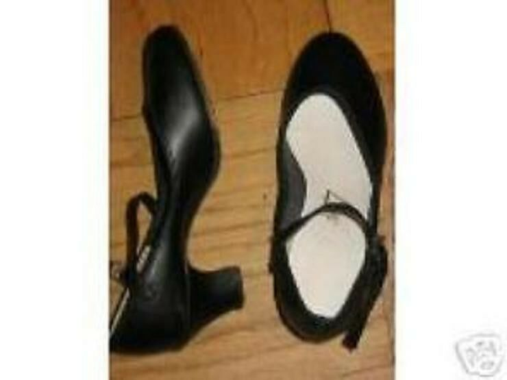 black character taps heels shoes womens sz 6 5 m 6 1 2 ebay