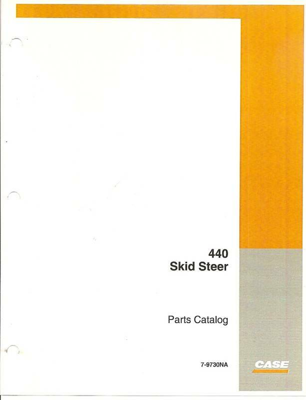 case 440 skid steer loader parts manual