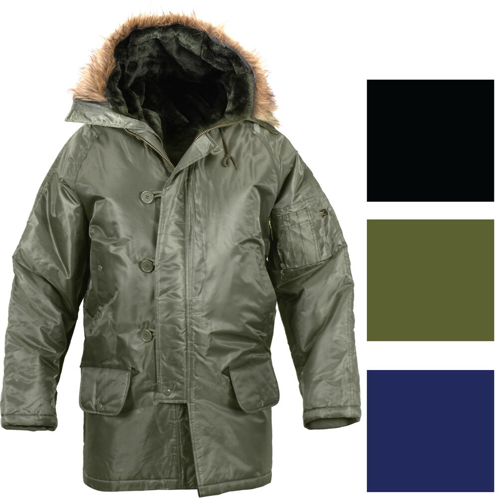 4f4666395bc Details about Cold Weather N-3B Military Snorkel Parka Jacket Long  Insulated N3B Winter Coat