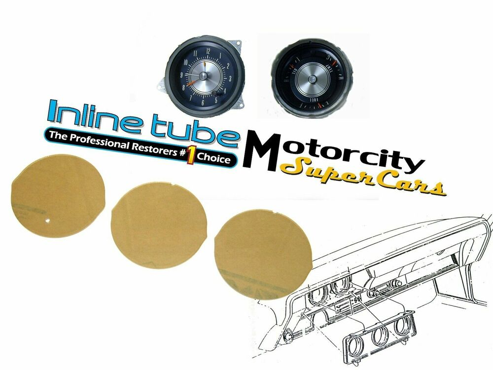 68 69 70 71 72 oldsmobile cutlass 442 w30 w31 lens set w clock 3pc ebay