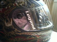 2x vinyl name stickers for motorcycle helmets 10colours