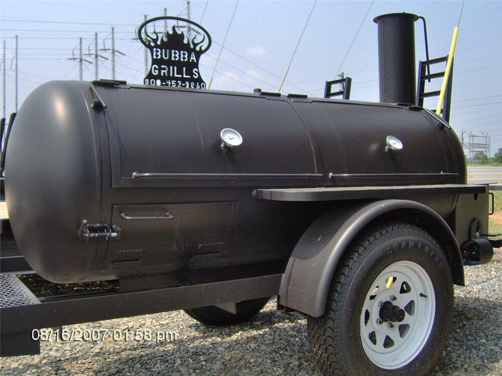 Bbq Pit Smoker Competition Trailer Grill No Gas Wood