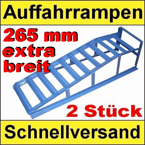 pkw auffahrrampen extra breit 2000 kg tragkraft 2 st ck ebay. Black Bedroom Furniture Sets. Home Design Ideas