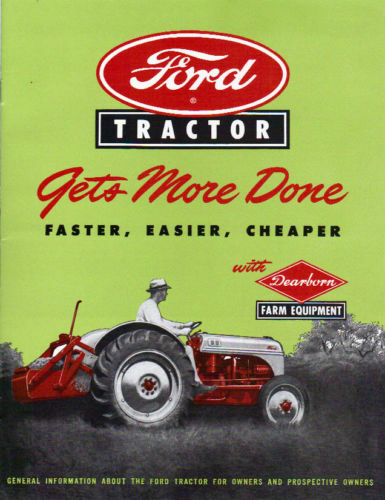 52 Ford 8n Tractor Parts : Ford tractor n sales brochure page ebay