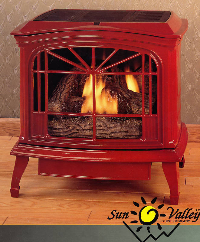 Sun Valley Cast Iron Gas Stove Heater Townsend Ii Ebay
