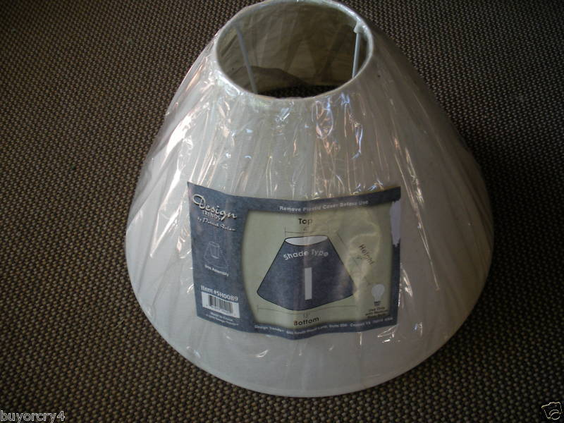 New Cream Color 9in High Lamp Shade By Design Trends Ebay