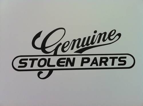 FUNNY GENUINE STOLEN PARTS DECAL STICKER FORD CORSA VW | eBay