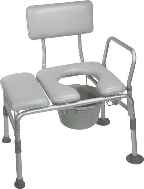 Drive Medical Combination Padded Transfer Bench Commode