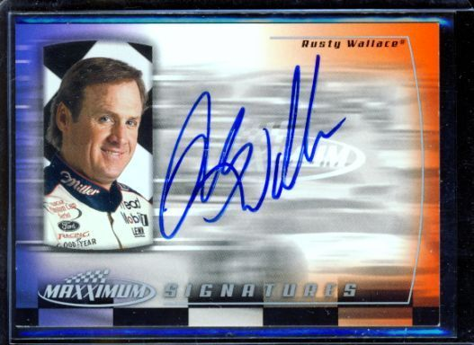 rusty wallace 2000 maxximum auto autograph ebay. Black Bedroom Furniture Sets. Home Design Ideas