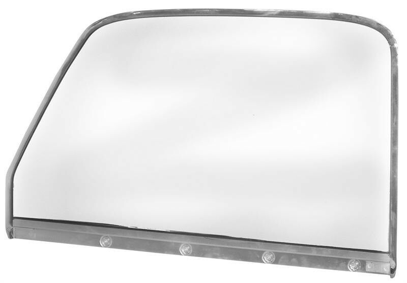 Door window glass chrome rh 1947 1948 1949 1950 chevrolet for 1950 chevy truck door panel