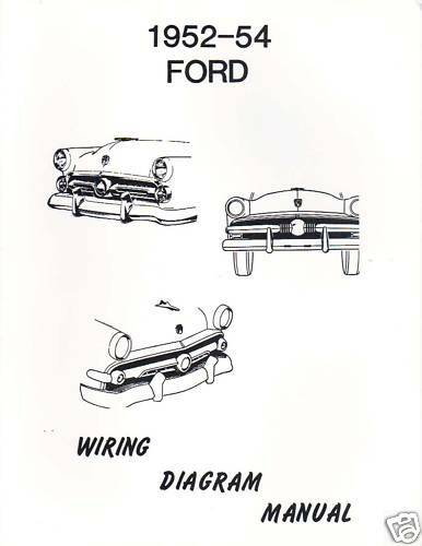 1952 54 Ford Wiring Diagram Manual Ebay