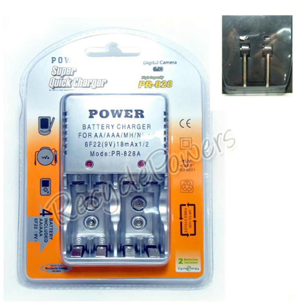 quick charger 828 for 9v aa aaa rechargeable battery ebay. Black Bedroom Furniture Sets. Home Design Ideas