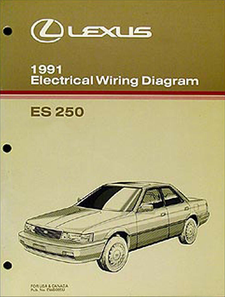 1991 Lexus Es 250 Oem Wiring Diagram Manual Es250 Original Electrical Schematic