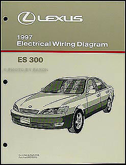 1997 lexus es 300 wiring diagram manual oem 97 es300 electrical schematics ebay. Black Bedroom Furniture Sets. Home Design Ideas