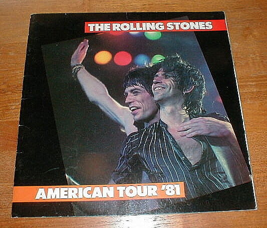 rolling stones 1981 american tour program vg ebay. Black Bedroom Furniture Sets. Home Design Ideas