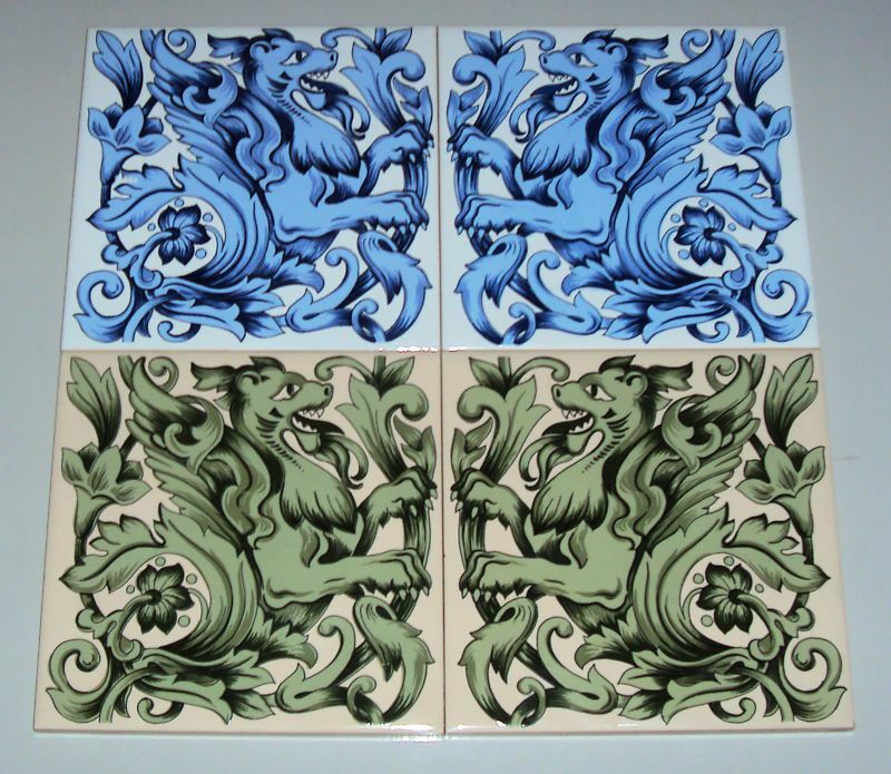 152x152 Decorative Ceramic Wall Tile Or Fireplace Tile Ebay