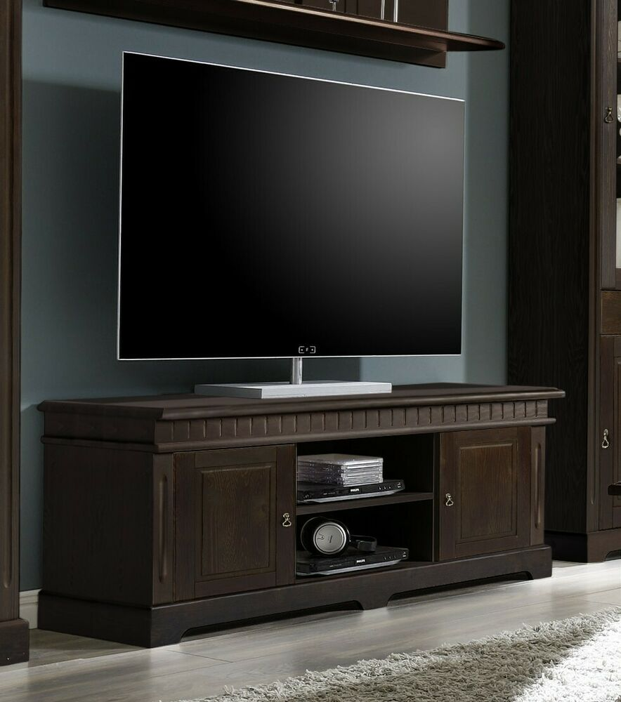 cordoba tv lowboard 01 kommode kiefer massiv kolonial ebay. Black Bedroom Furniture Sets. Home Design Ideas