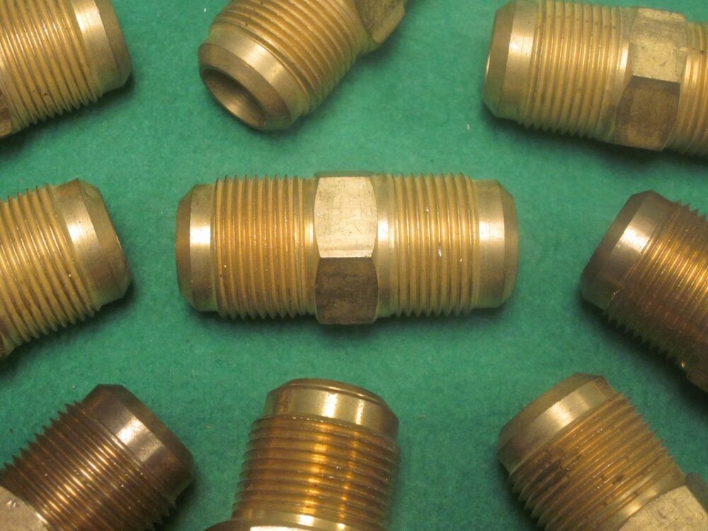Brass hydraulic fitting sae ° flare male quot ebay