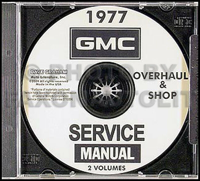 1977 Gmc Pickup Truck Jimmy Suburban Van Shop Manual Cd