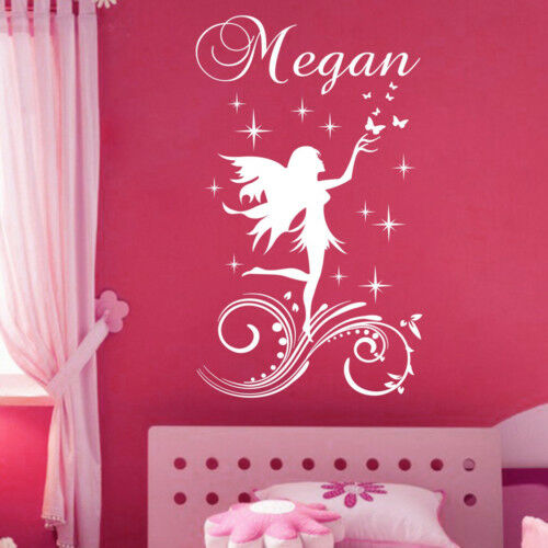 Fairy Name Personal Vinyl Wall Decals Stickers Art 001 Ebay