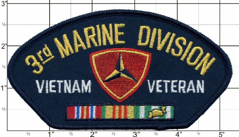 Details about   Vietnam Veteran Patch Marines 3rd Third Marine Division