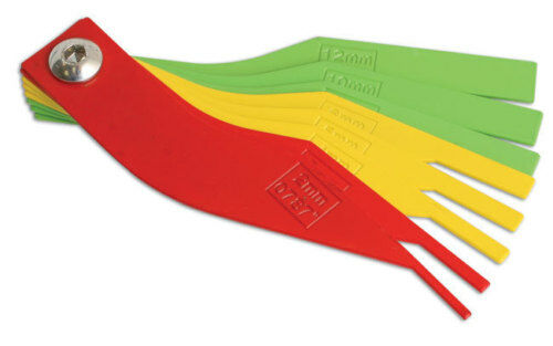 Disc Brake Pad Thickness Gauge : New colour coded brake lining pad disc checker tool ebay