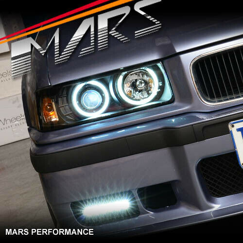 Ccfl Angel Eyes Projector Head Lights For Bmw E36 2D 318I-8236
