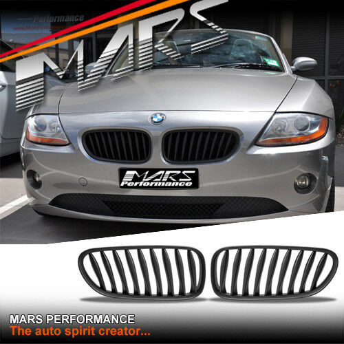 Matt Black M Style Front Bumper Bar Kidney Grill Grille