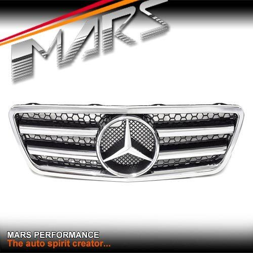 Chrome black amg style front grill grille mercedes benz for Mercedes benz grills