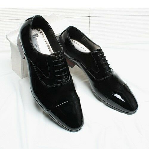 Mens Dress shoes luxury dandy Style Black Leather shoes