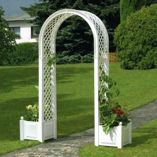 rosenbogen mit pflanzkasten spalier mit blumenkasten khw blumentopf pergola neu ebay. Black Bedroom Furniture Sets. Home Design Ideas