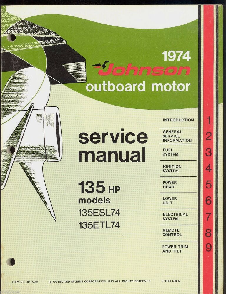 Owners Manual For Johnson Outboard Motor