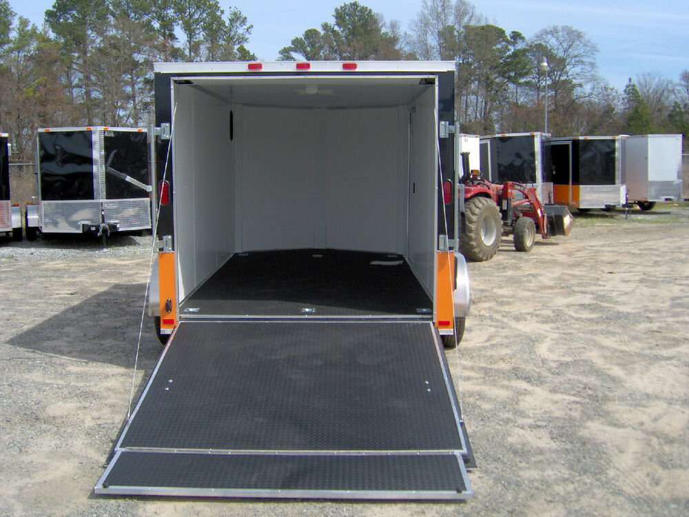 7x12 39 enclosed cargo trailer finished interior harley davidson decal 14 39 inside ebay. Black Bedroom Furniture Sets. Home Design Ideas