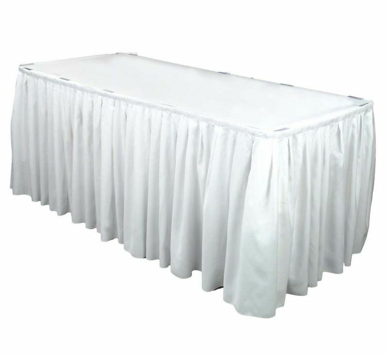 10 17 ft polyester banquet table skirting skirt 3 clr ebay for 10 foot banquet table
