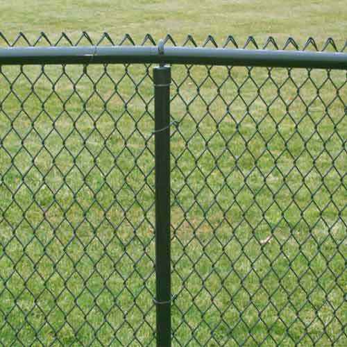 Chainlink pvc green coated fencing ft mts long ebay